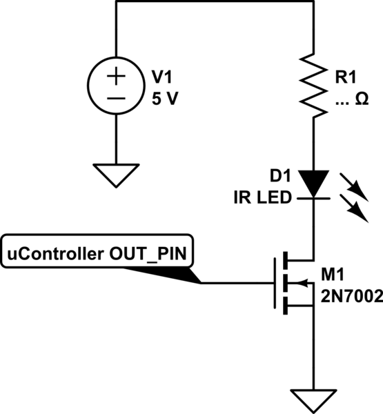 How to control IR led using ESP8266 (out pint at 3.3v) and