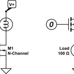 Transistor Wiring Diagram 4 Way Round Trailer Fet All Data Mosfet Simple P Channel Circuit