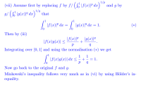 Understanding the proof of Holder's inequality(integral ...