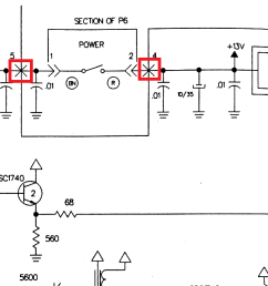 what are these x s crosses on this schematic s wiring traces besides dish work rf modulator on rf modulator wiring diagram [ 2435 x 745 Pixel ]