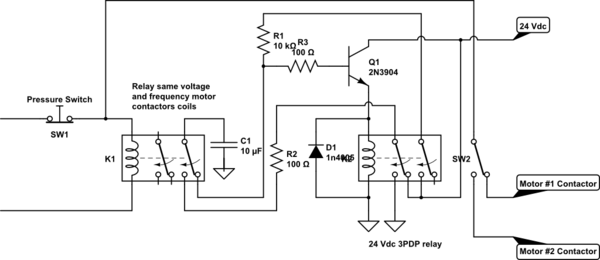 Lead Lag Pump Control Wiring Diagram Interchangeable Operation Of Two Electric Motors Without