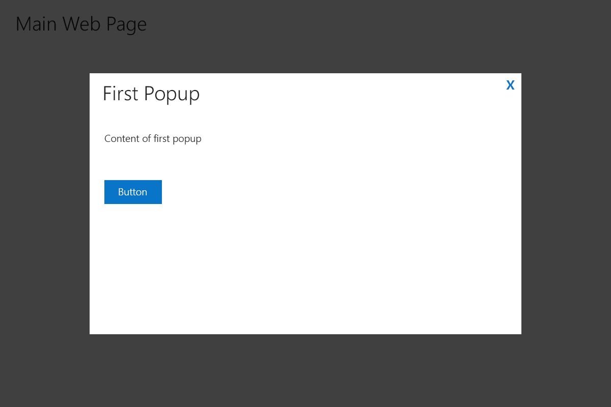 web  Is it acceptable to open a modal popup on top of