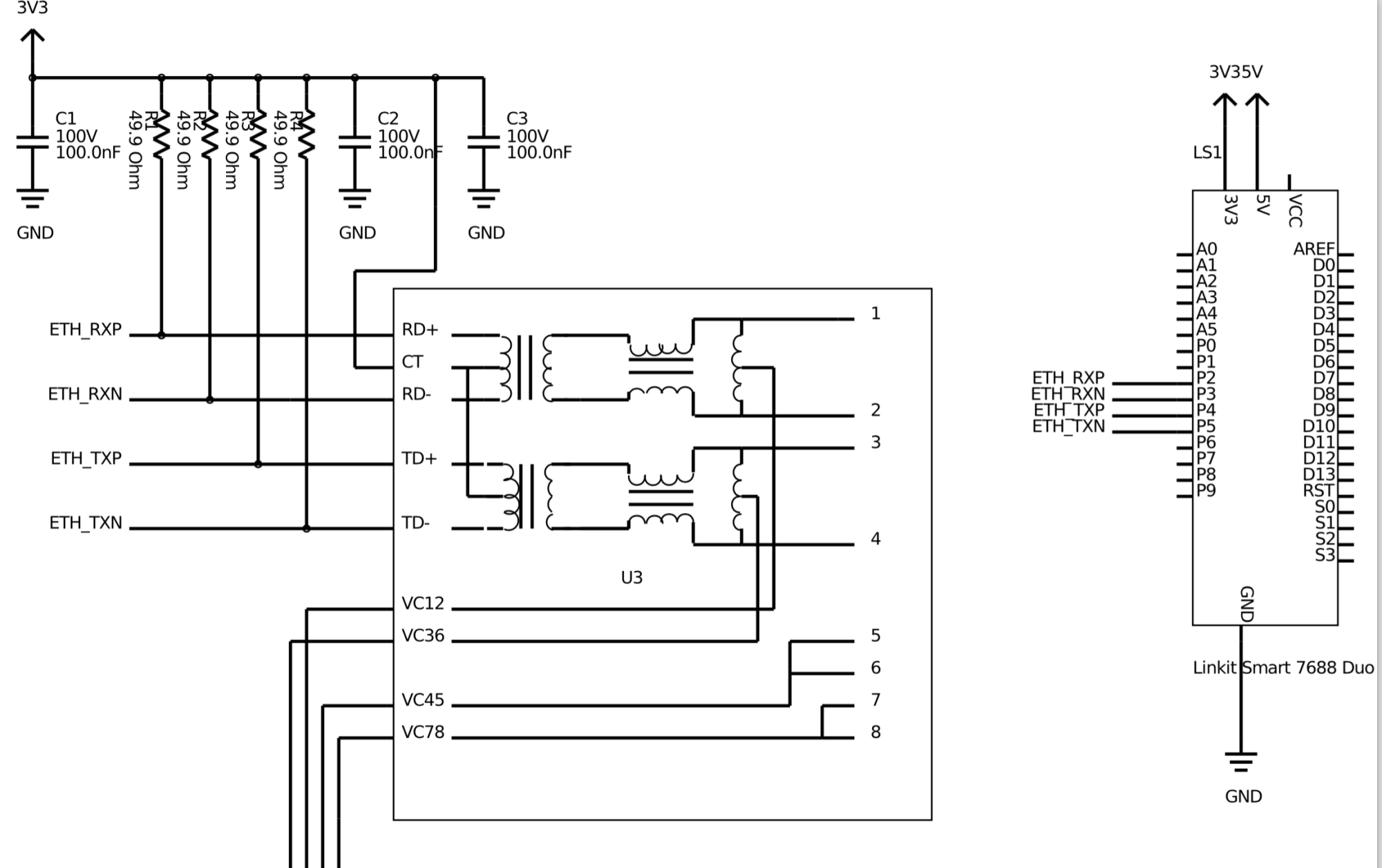 hight resolution of ethernet trace layout with poe integrated magnetics cat6 ethernet wiring ethernet wiring guide