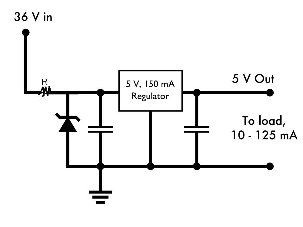 Using a Zener diode to ease a voltage regulator