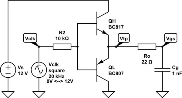 circuitlab totempole nmos driver
