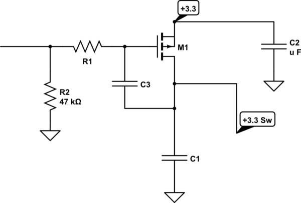 microcontroller switches mosfet