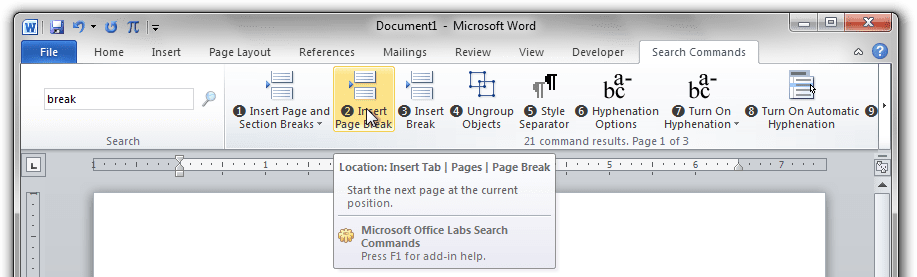 Is there a function search on Microsoft Office 2010? - Super User