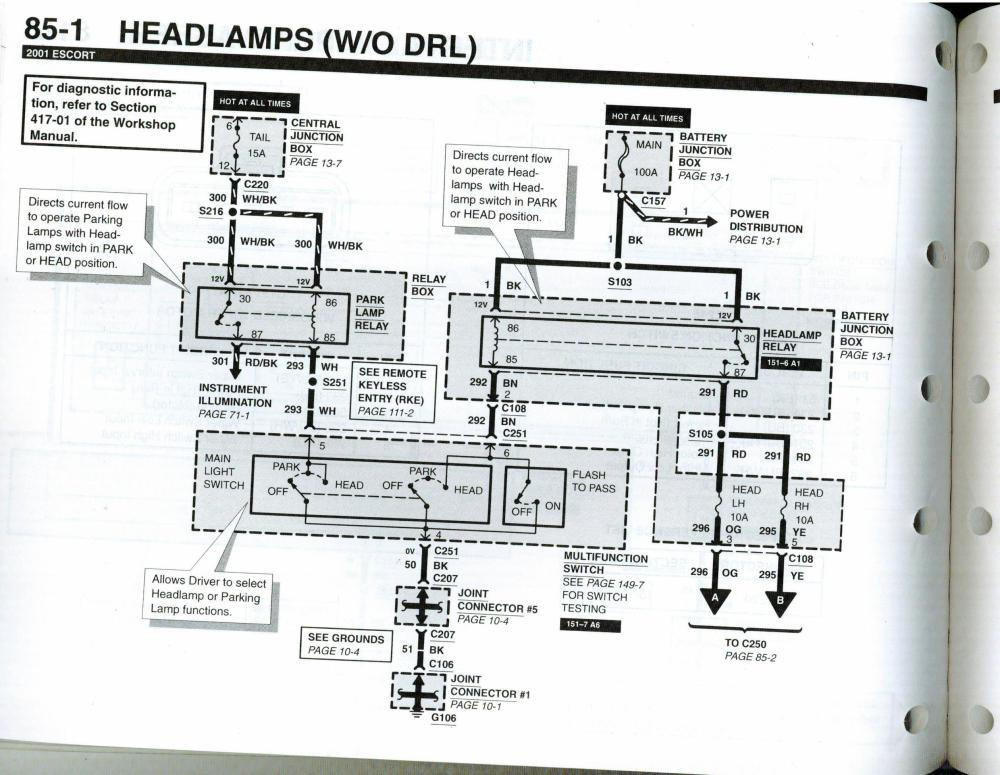 medium resolution of  right headlamp fuses to headlamps