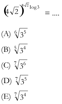 Logarithms / Maths with a root base or to the power of