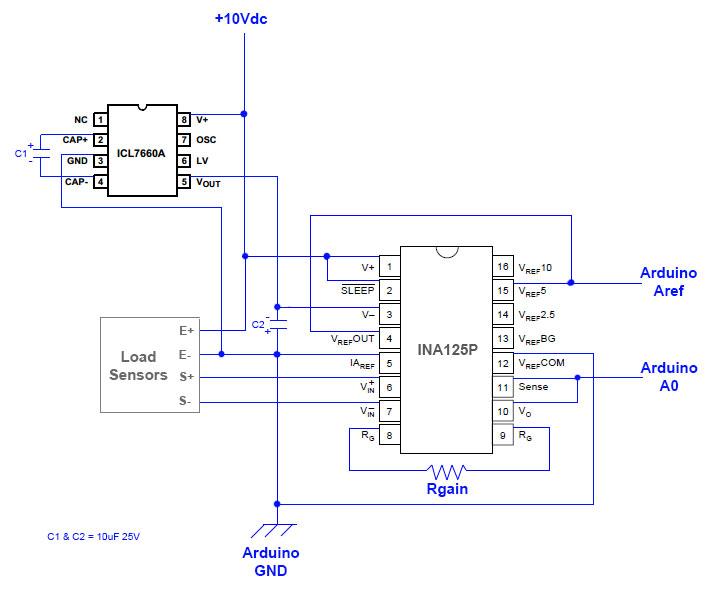 0 10v analog signal wiring 3 5mm audio jack diagram arduino leonardo + wire load cells ina125p – bounce / noise
