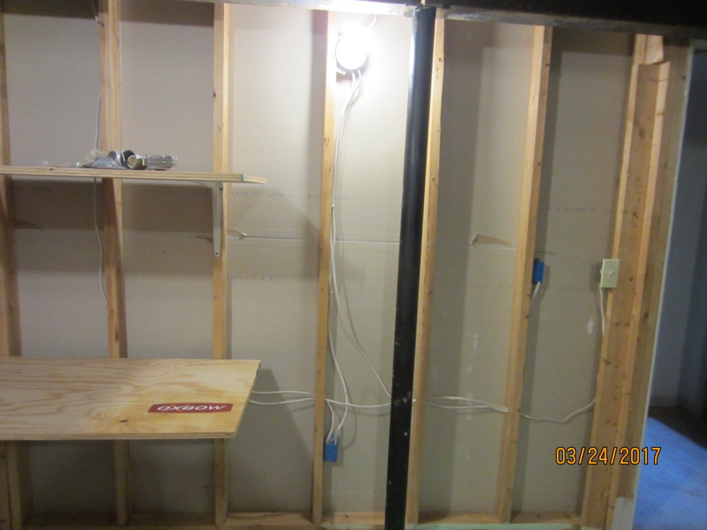 medium resolution of electrical do wires and electical boxes need to be protected on the un finished side of basement home improvement stack exchange