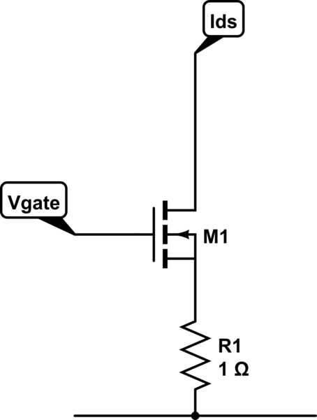 Electronic load MOSFET drain to source current suddenly