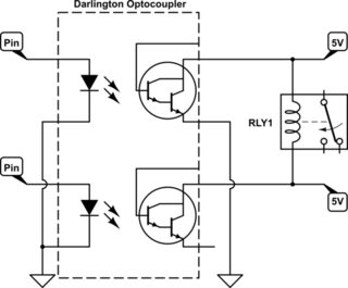 Latching/Non-Latching Relay Driver Circuit with darlington