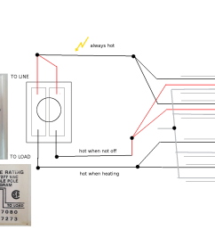 wiring installing double pole line voltage thermostat home rh diy stackexchange com double pole contactor wiring diagram double pole single throw rocker  [ 1600 x 1200 Pixel ]