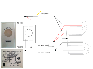 wiring  Installing doublepole linevoltage thermostat