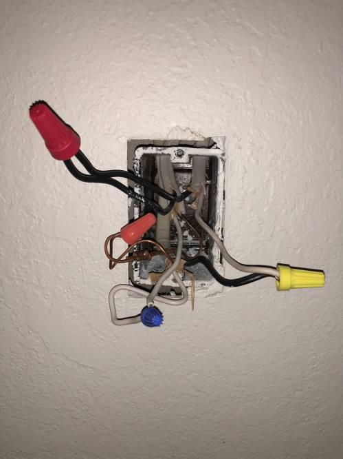 small resolution of edit junction box photo photo of the junction box i used different color wire nuts for clarity and