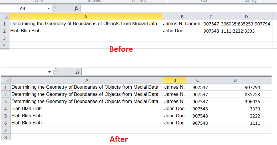 Excel Vba Convert Data From One Cell Into Rows Type