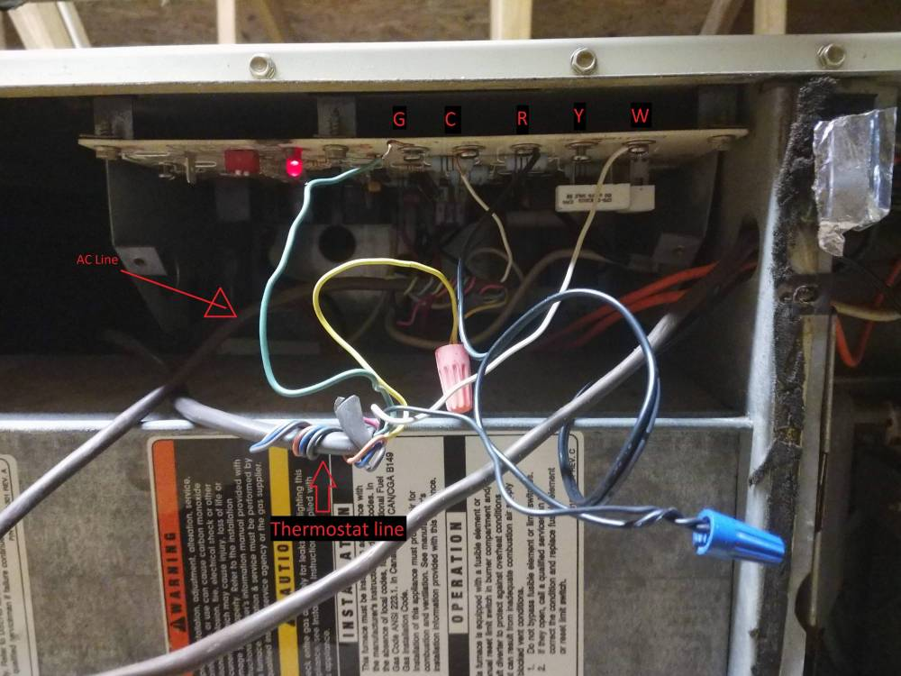 medium resolution of hvac furnace mainboard wiring with ac unit home improvement installing ac unit in wall thoughts