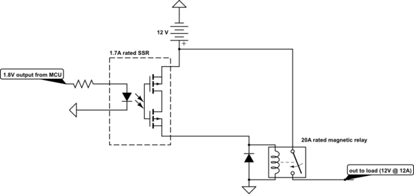 solid state relay schematic mosfet