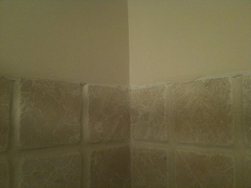 Chair rail or tile cap in bathroom  Home Improvement