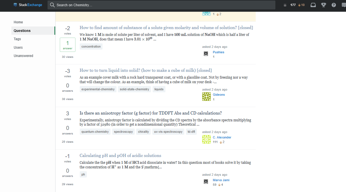 User Profile picture doesn't appear - Chemistry Meta Stack Exchange