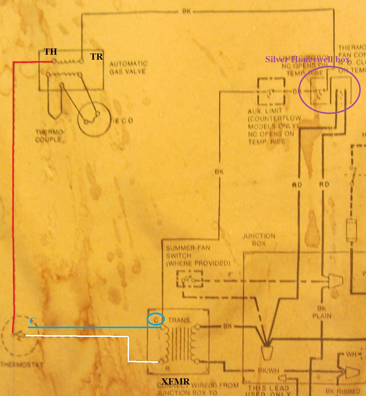 hight resolution of old rheem furnace wiring diagram wiring diagram option hvac add a c wire to 25 year old