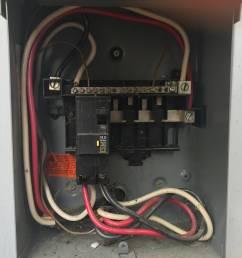 120v outlet from 240v load center  [ 4032 x 3024 Pixel ]