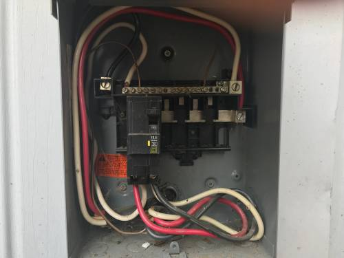 small resolution of 120v outlet from 240v load center