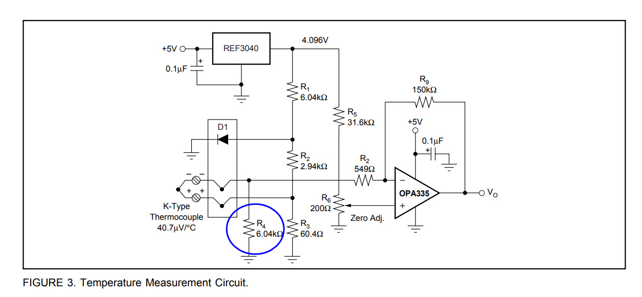 Thermocouple Amplifier Circuit Question (OP AMP Bias