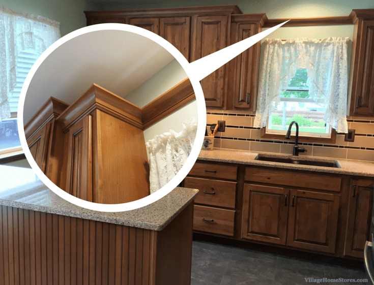 kitchen cabinet crown molding wellborn cabinets kitchens how to install or valance board around a