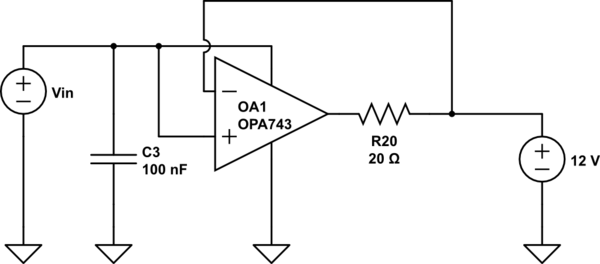 Having the same source for power supply and positive input