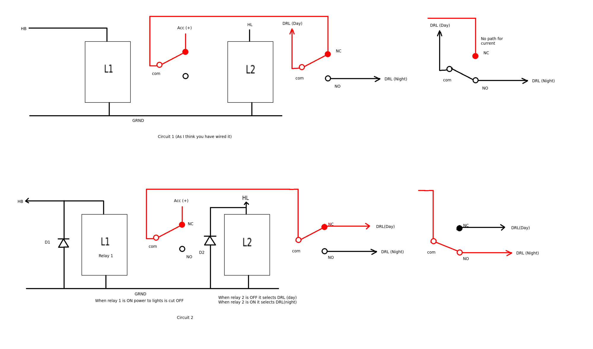 hight resolution of light two relays for drl on a car electrical engineering stack drl relay wiring