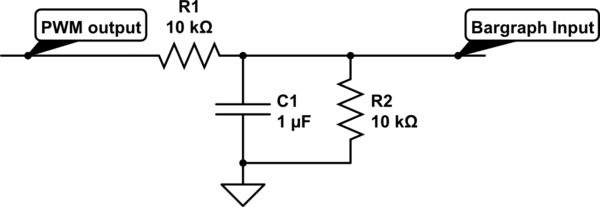 circuitlab pwm output into a low pass filter