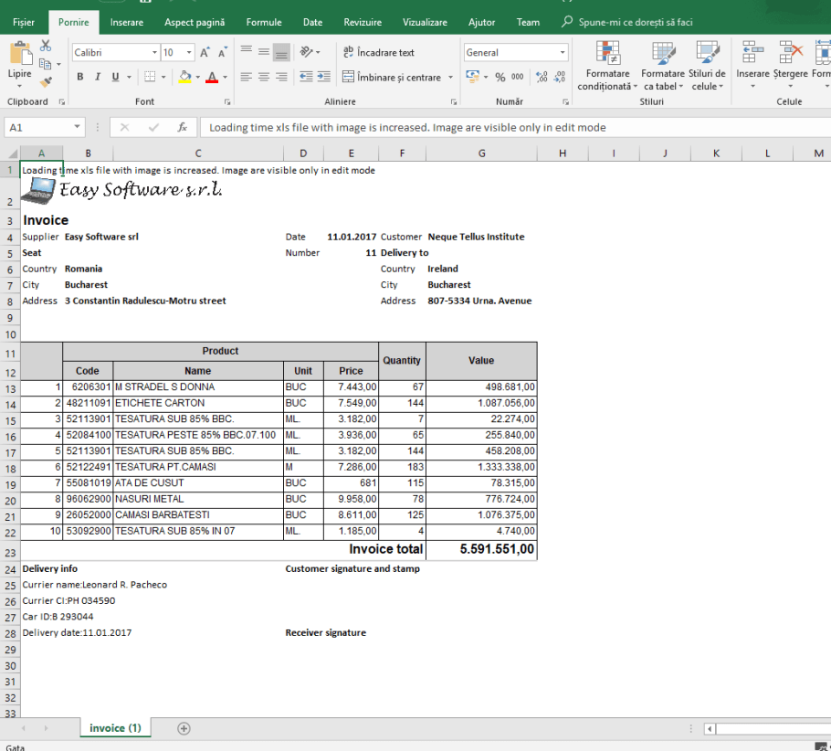 EXporting in excel