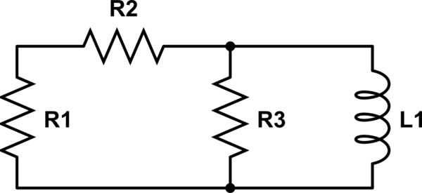 How to treat the DC in calculate the time constant in RCL