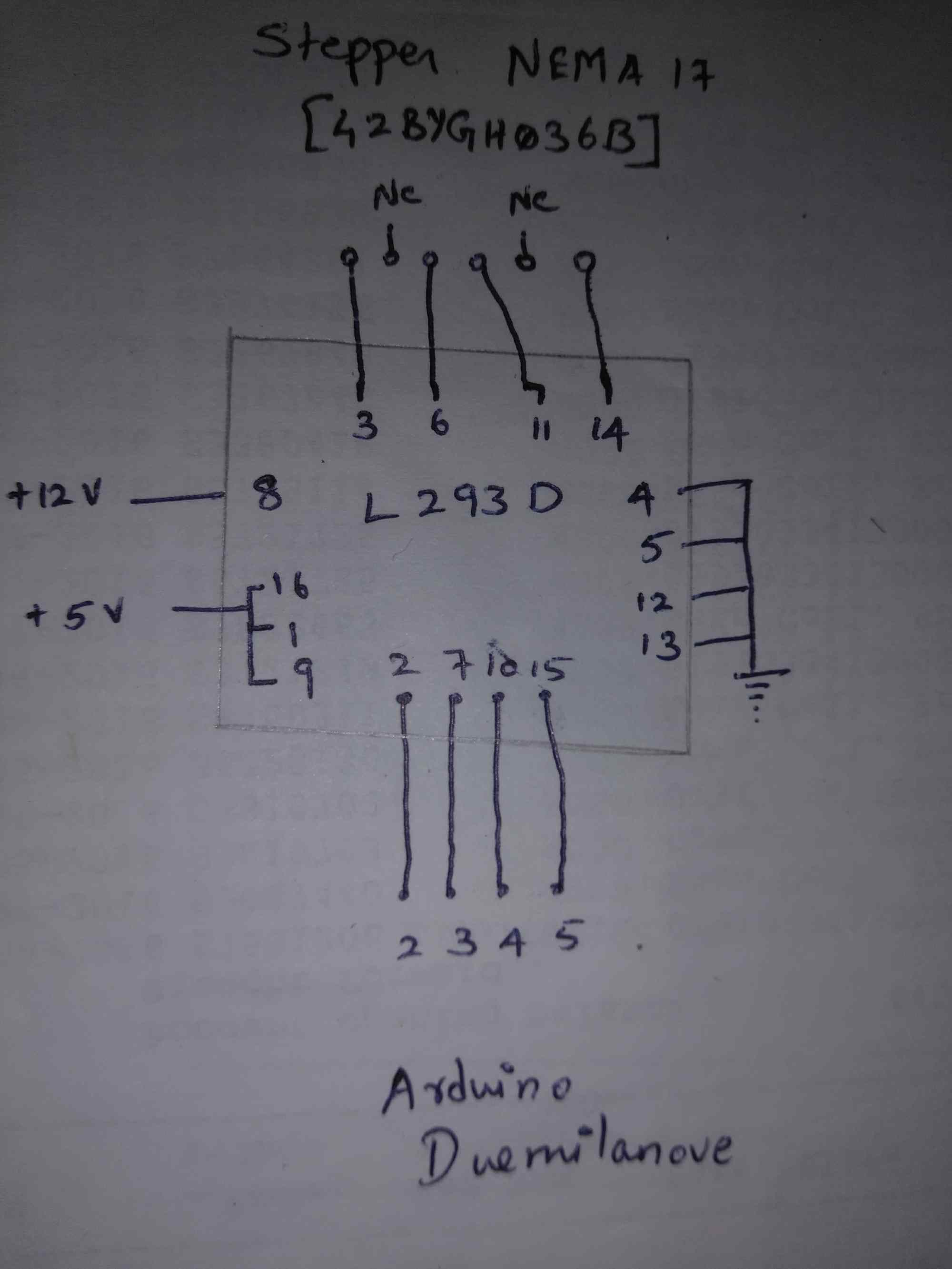 hight resolution of stepper motor just oscillates with arduino and l293d arduino stack haydon stepper motor wiring diagram