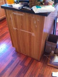 How do I repair laminate damage on a kitchen cabinet ...
