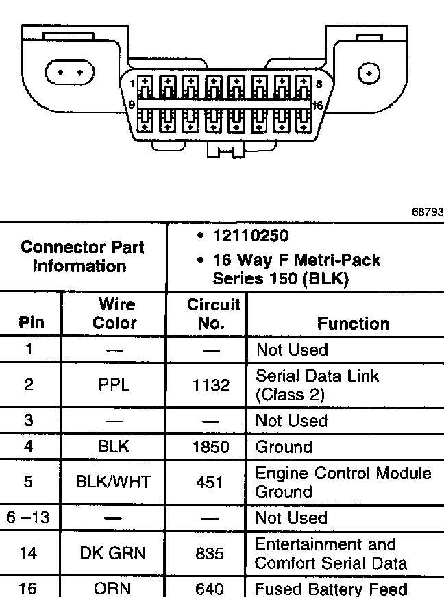 cadillac obd ii wiring diagram  gas gauge wiring diagram