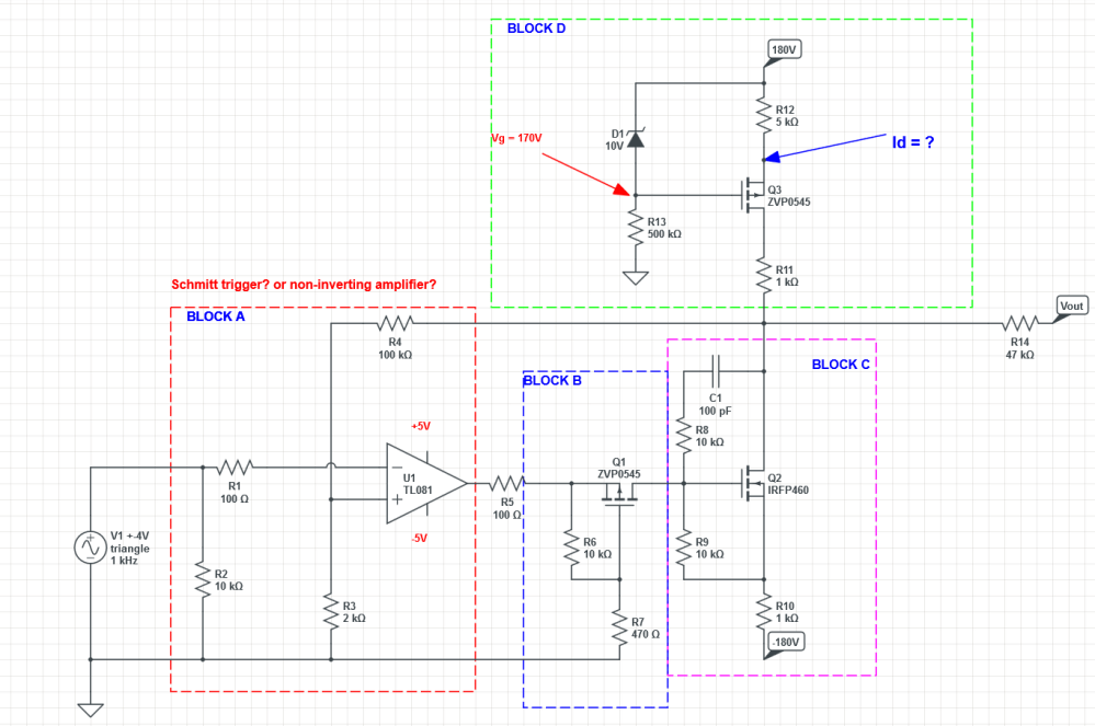 medium resolution of current source high voltage op amplifier circuit analize circuit diagram amplifier circuit high voltage operational amplifier