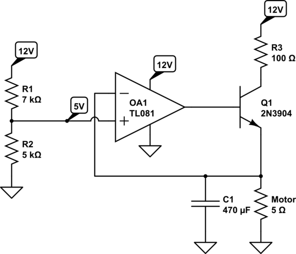 voltage of 0 to 10v use a voltage servo circuit