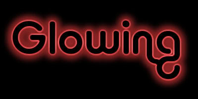 glowing text contour in
