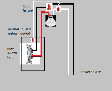 how do i connect a light to a switch when the light receives