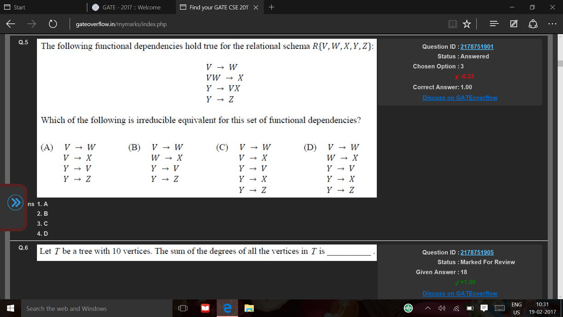 graphs - the sum of degree of all vertices in tree with 10 vertices - Computer Science Stack Exchange