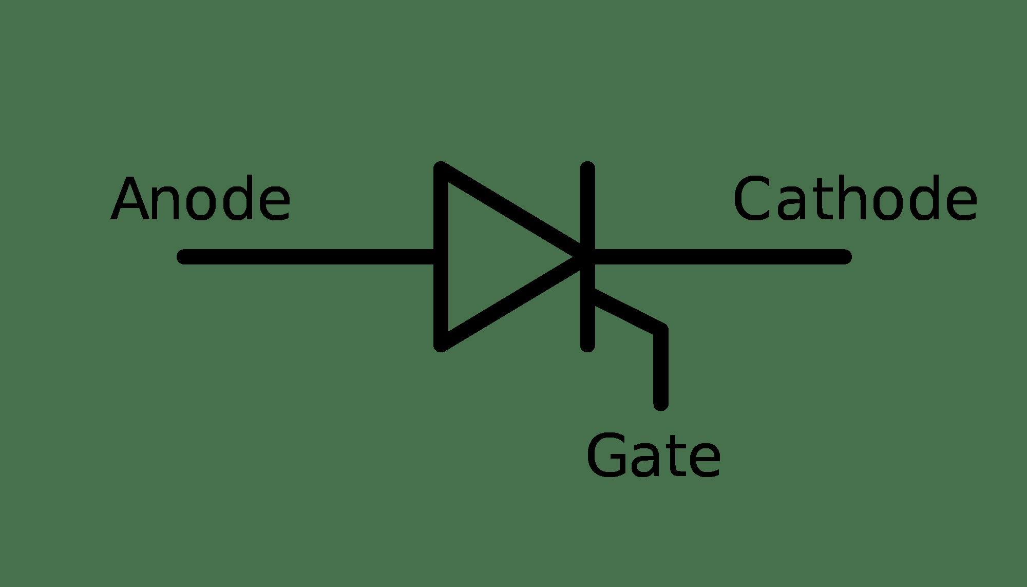 Scr Aka Thyristor Symbol In Tikz Circuit