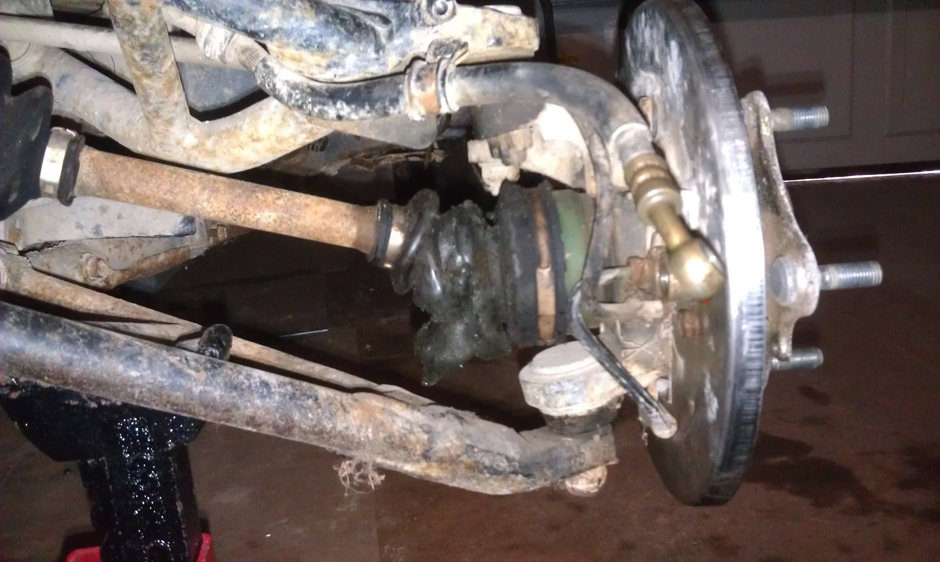 Rancher Engine Diagram How Do I Remove The Front Axle Of A 93 Honda Fourtrax 300