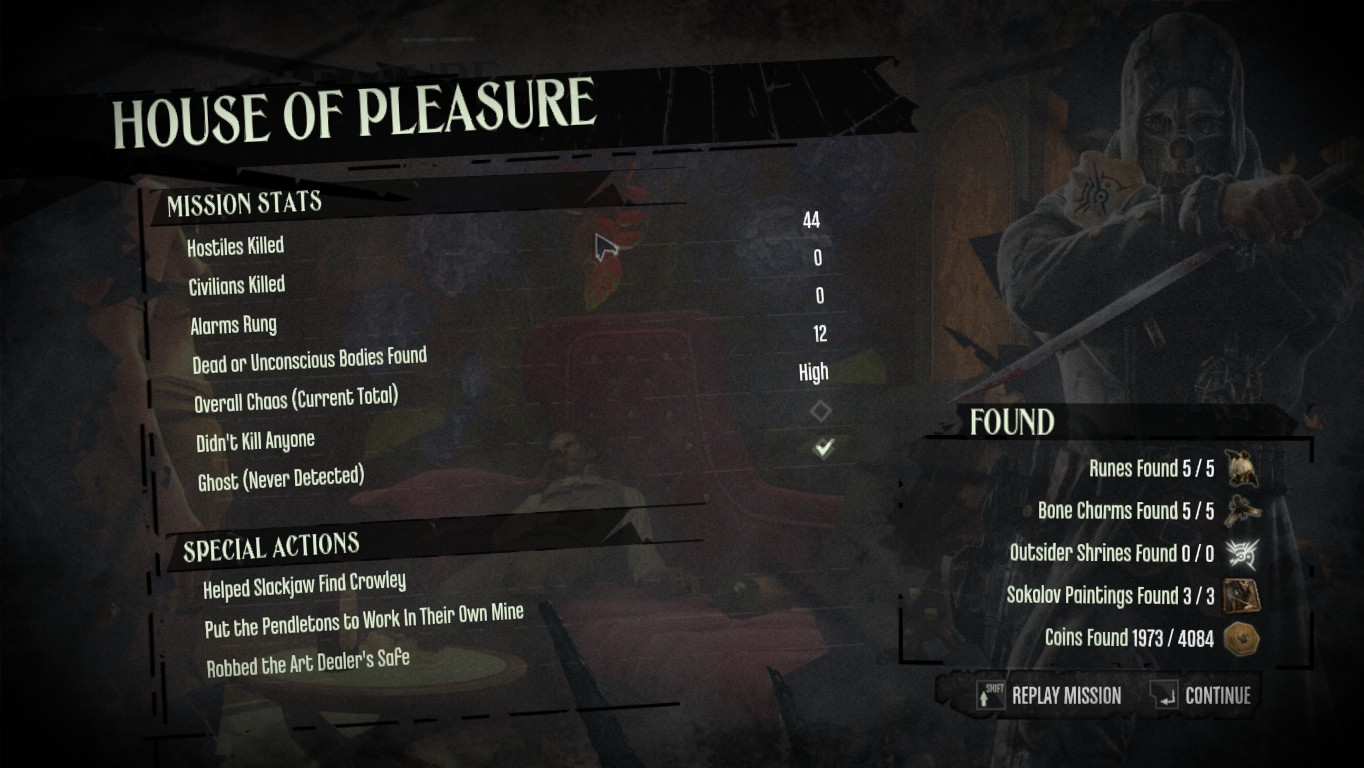achievements dishonored do bodies