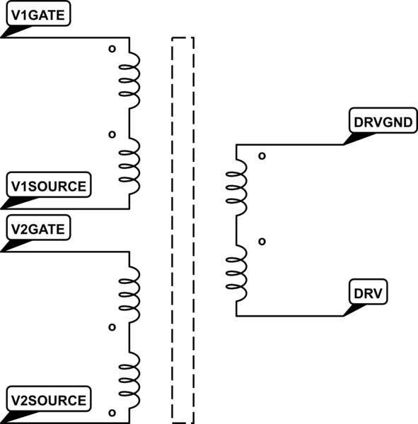 How the MOSFETs driven by a six winding transformer