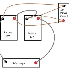 12v Wiring Diagram For Boats Simple Animal Cell Kids Batteries Charge At 24v And Discharge Battery System