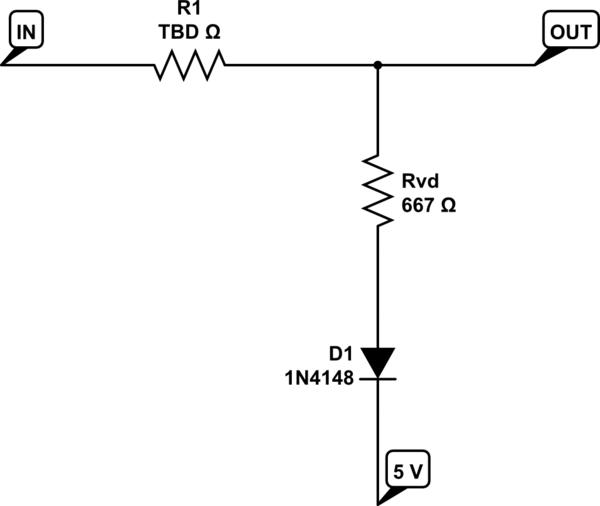 Need help understanding simple diode clamp & voltage