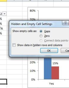 Chart hidden empty cell options also creating  in excel that ignores  or blank cells stack rh stackoverflow